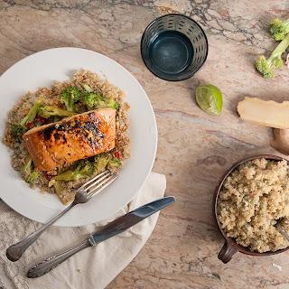 Teriyaki Salmon With Edamame Quinoa & Tenderstem
