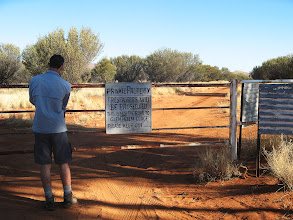 Photo: The gate on Dashwood Bore Road into Glen Helen Station, it wasn't locked, and we had permission from them and the Ranger for the West MacDonnell Ranges National Park