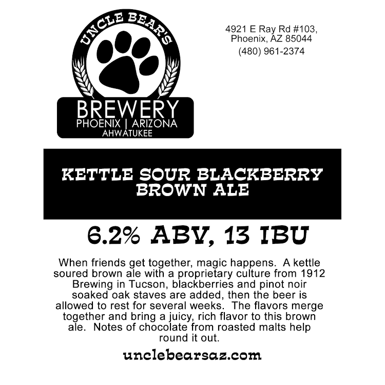Logo of Uncle Bear's Off The Leash Kettle Sour Blackberry Brown Ale