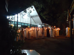 Photo: Buddha Day night ceremony on circa Feb 23 (with the full and 1/4 moons).