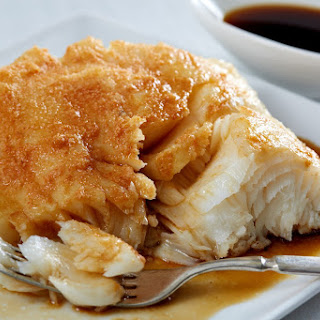 Smoked Chilean Sea Bass With Ponzu Sauce.