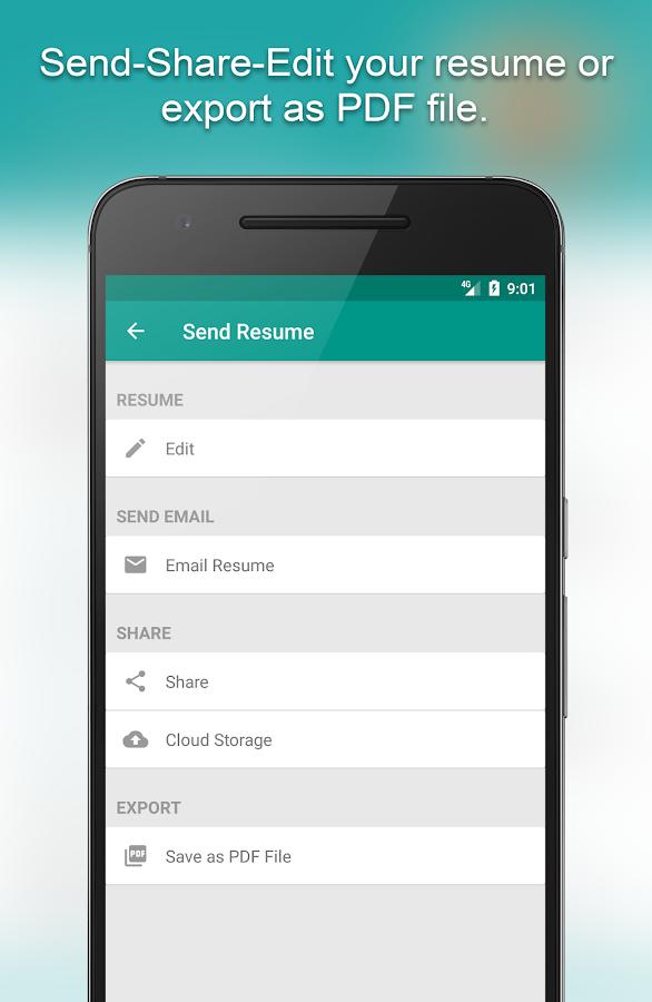 resume builder app