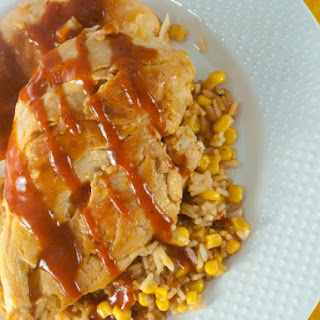 Barbecue Chicken & Rice Skillet.