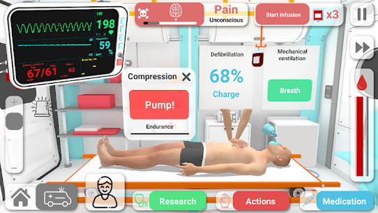 Reanimation inc: Realistic Emergency ER Simulator! Apk Download For Android and Iphone 7