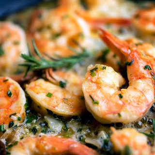 Easy Low-Calorie Shrimp Scampi.