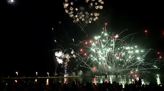 Imagen de archivo de la celebración de un espectáculo pirosmusical.