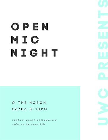 Open Mic Night - Flyer Template
