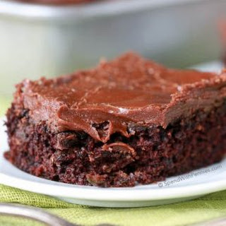 Zucchini Brownies with 1 Minute Frosting!.