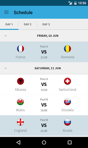 Live Scores for EURO 2016