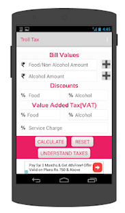 Troll Tax India Food Tax Calc screenshot
