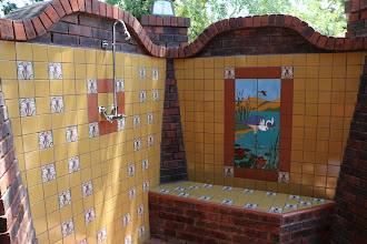 Photo: Malibu Tile Works - Outdoor Shower - Dove Nest Ranch - Fairfield, CA