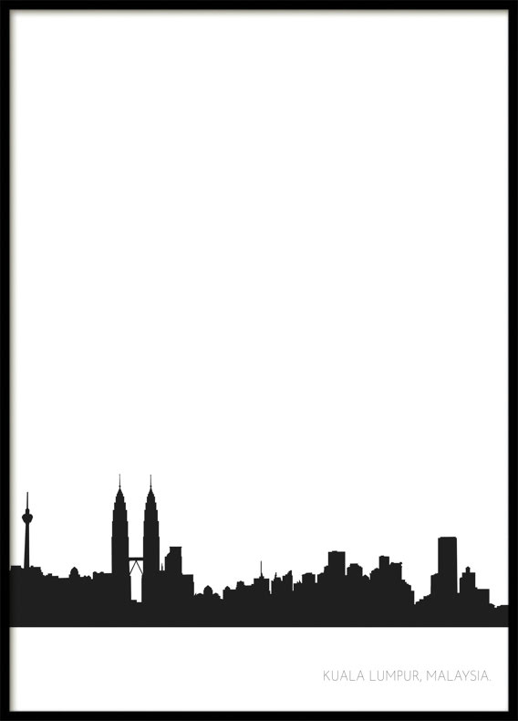 Kuala Lumpur Stadssiluett, Poster