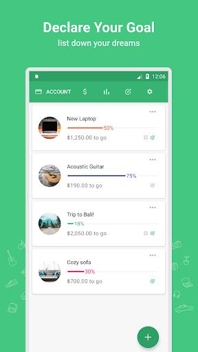 Thriv - Savings Goal Tracker screenshot 1