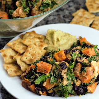 Sweet Potato Chicken with Cranberries & Kale.