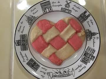 Youtube Mom Joni Hilton's Woven Valentine Cookies