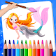 Mermaid Princess Coloring Book With Learn Apk