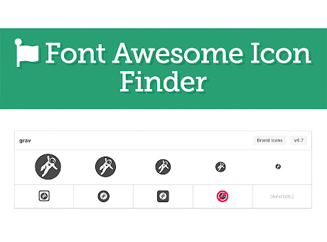 Font Awesome Icon Finder