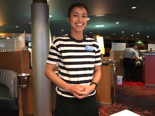 Aurora-Canaletto-waitress.jpg - The fun and attentive waitress we met during dinner at the upscale Canaletto on Westerdam.