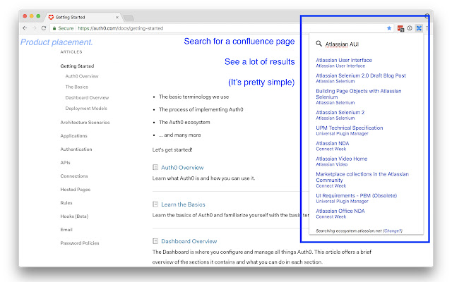 Confluence Quick Search