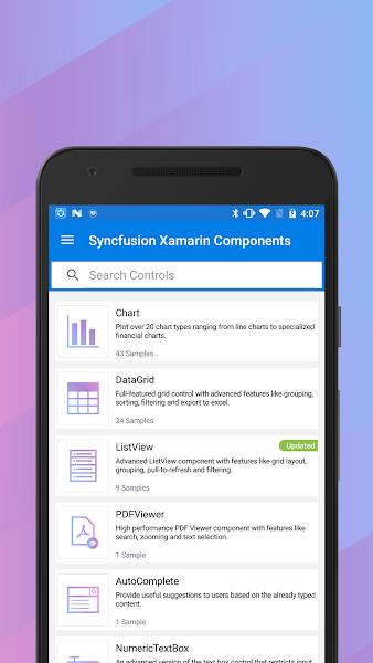 Syncfusion Xamarin UI Controls