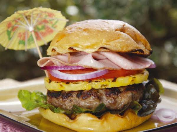 Teriyaki Glazed Hawaiian Burger Recipe