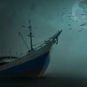 the boat#1 by Barry Rattu - Digital Art Places