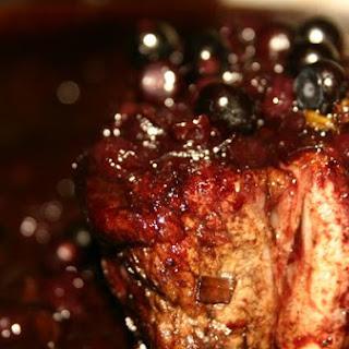 Pork Belly With Wild Huckleberry Sauce