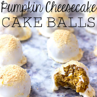 Pumpkin Cheesecake Cake Balls