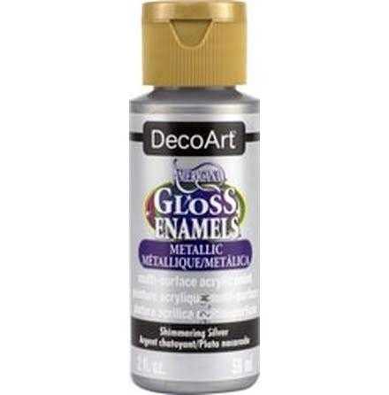 Glasfärg - Metallic Shimmering Silver