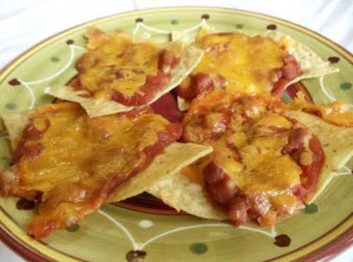 "Meatless Nachos ""Wow these are wonderful, I added some chopped fresh cilllis..."