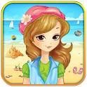 Girls beach party & summer fun icon