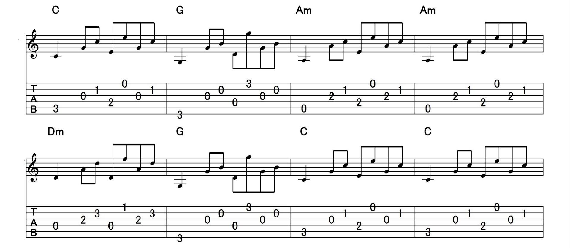 アルペジオの練習:パターン6