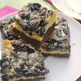Layered Oreo Cake Bars