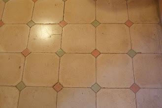 Photo: Tile floor design by Gaudi at La Pedrera, Barcelona