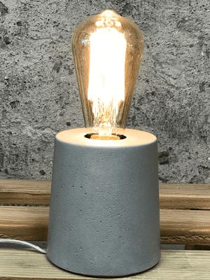 lampe béton gris forme design fait-main création béton