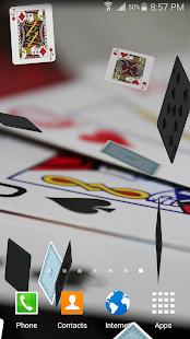 Falling Cards Live Wallpaper - náhled