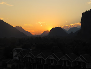 Photo: Day 303 - Sunset Over Vang Vieng #2