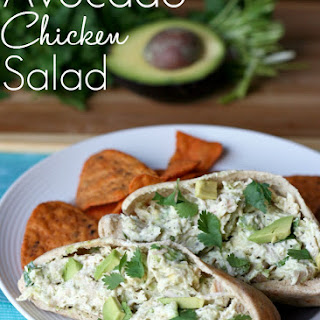 Healthy Avocado Chicken Salad.
