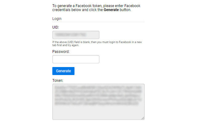 Facebook Token Creator
