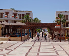 Photo: The shuttle bus stopped atthis nice resort in Safaga Egypt.