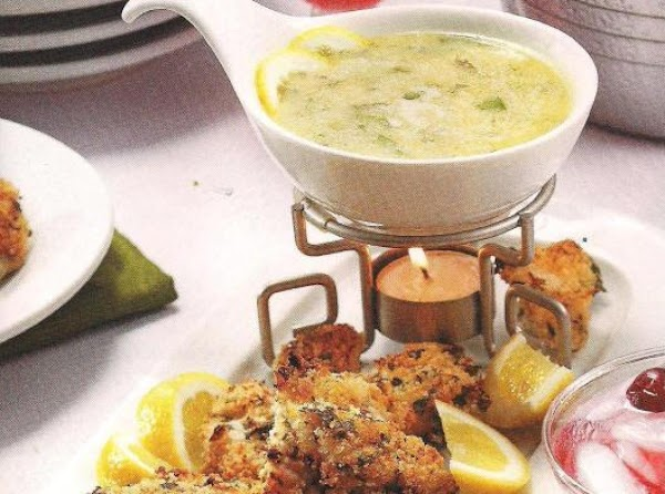 Piccata Fondue With Panko Crusted Chicken Dippers Recipe