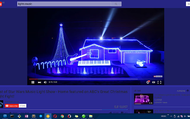 GlowTube - YouTube theme changes with video