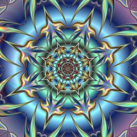 Flower 4 by Cassy 67 - Illustration Abstract & Patterns ( stars, digital art, harmony, circle, flowers, fractal, digital, fractals, energy, flower )