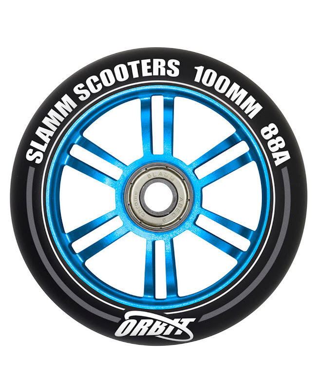 Slamm Orbit Wheels set 100 mm Blue