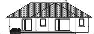 Domek Sosnowy 008 ET - Elewacja lewa