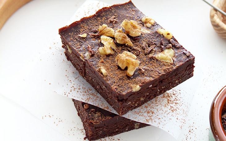 Raw Chocolate Walnut Brownies [Vegan, Gluten-Free] Recipe