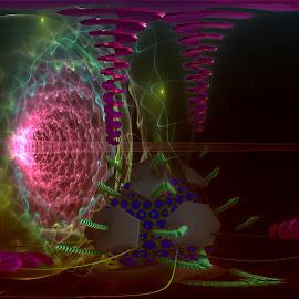 Power Drain by Rick Eskridge - Illustration Sci Fi & Fantasy ( fantasy, jwildfire, mb3d, fractal, twisted brush )