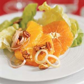 Lettuce, Orange, and Pecan Salad