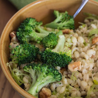 Barley Pilaf with Leeks, Walnuts, and Broccoli Recipe