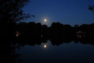 Photo: Mond über dem Großensee